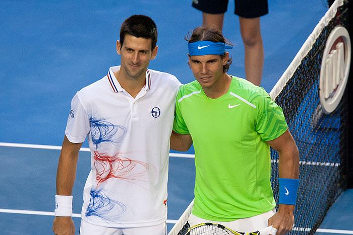 Novak Djokovic and Rafael Nadal Slug It out in Tough French Open Men's Final