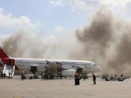 Explosions Rock Yemen's Aden Airport after Arrival of Coalition Cabinet Members