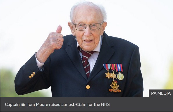 WWII Veteran Who Raised Funds for COVID-19, Tom Moore, Hospitalized For COVID-19
